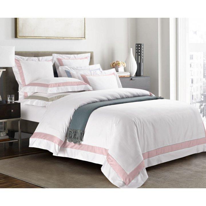 Пододеяльник «Prime» (цвет: молочный/нежно-розовый, 200х220 см, сатин)