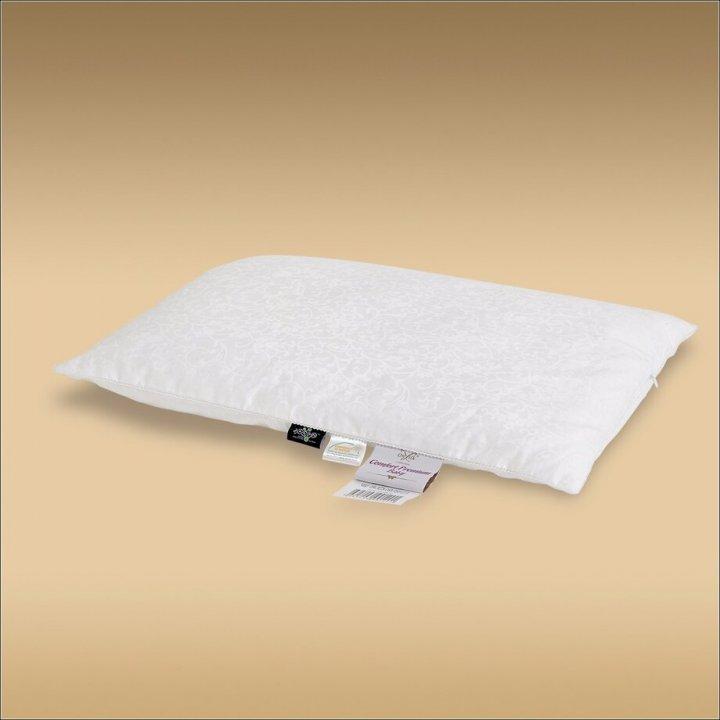 Подушка детская шелковая мягкая «Comfort Premium Baby» (40х60 см; наполнитель: 90% шелк Mulberry, 10% силиконизированное волокно; чехол: жаккард, 100% хлопок; цвет: белый)