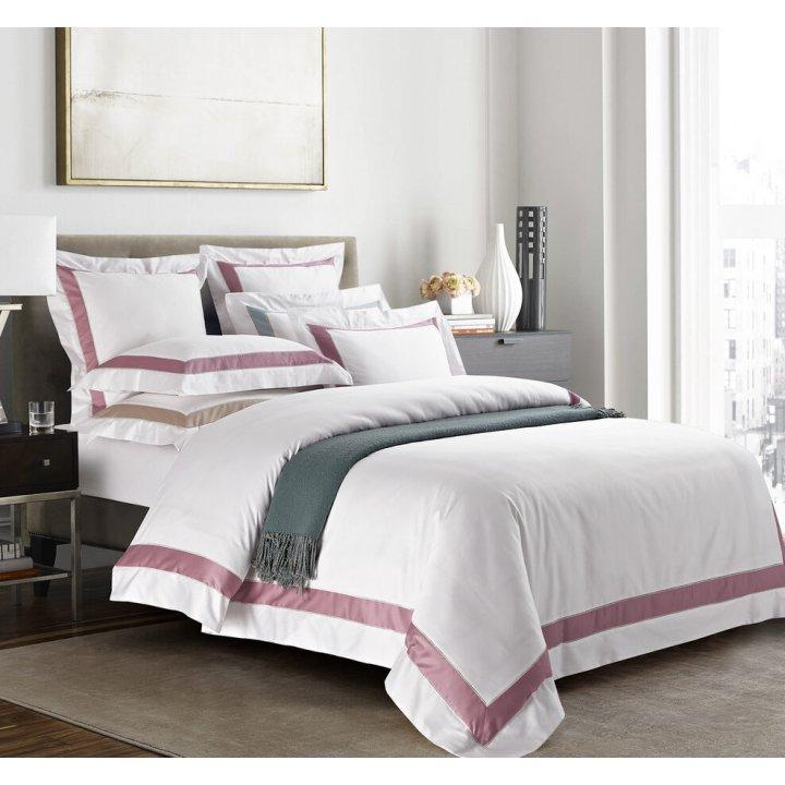 Пододеяльник «Prime» (цвет: молочный/темно-розовый, 200х220 см, сатин)