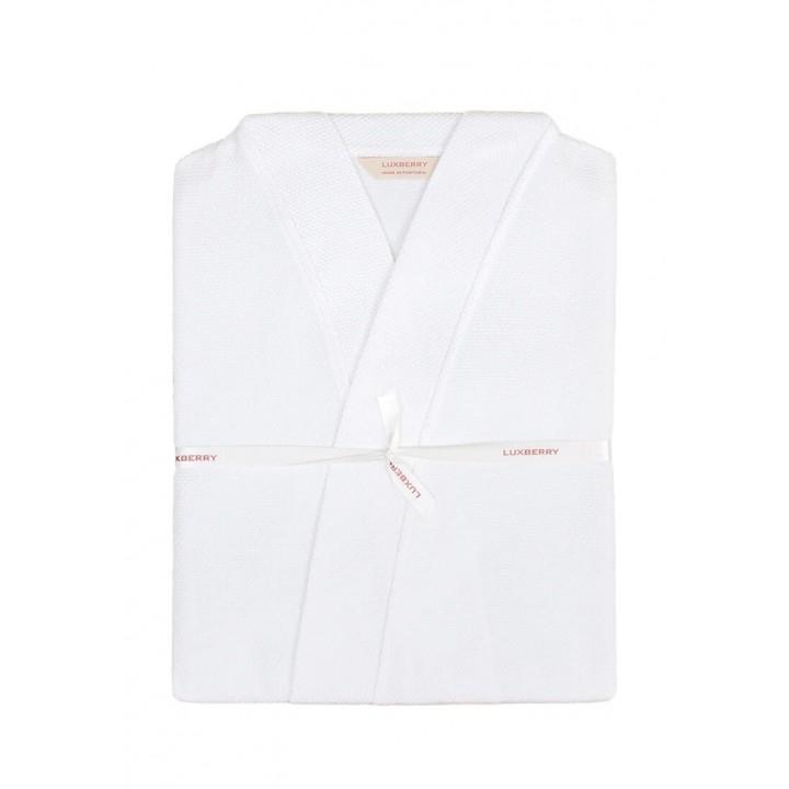 Халат вафельный «Kimono New» (цвет: белый; размер XS (40-42); 100% хлопок)