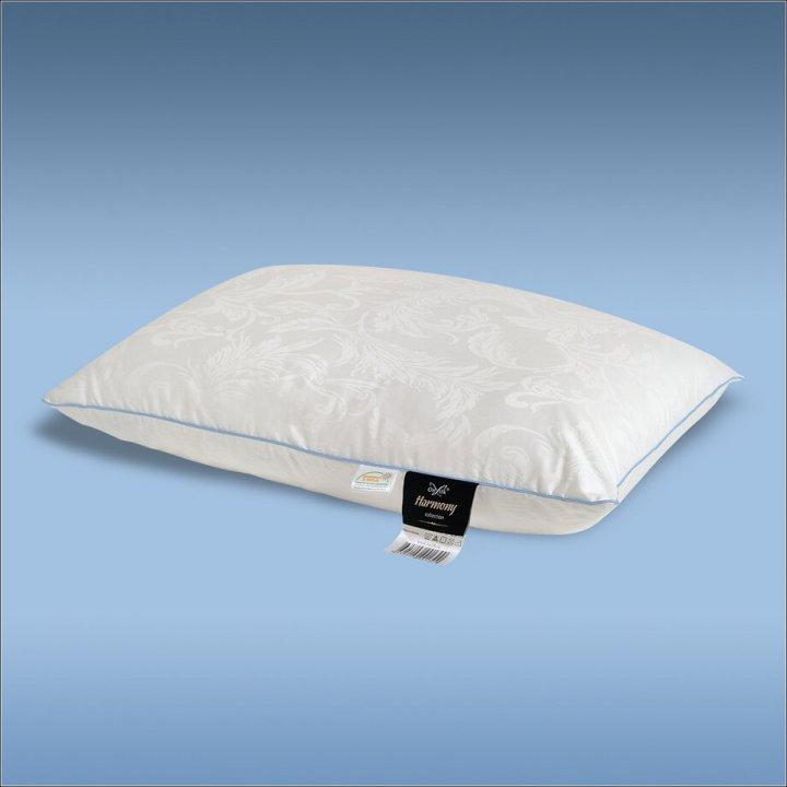 Подушка шелковая упругая «Harmony L» (50х70 см; наполнитель: 60% шелк Mulberry, 40% силиконизированное волокно; чехол: жаккард, 100% хлопок; цвет: белый)