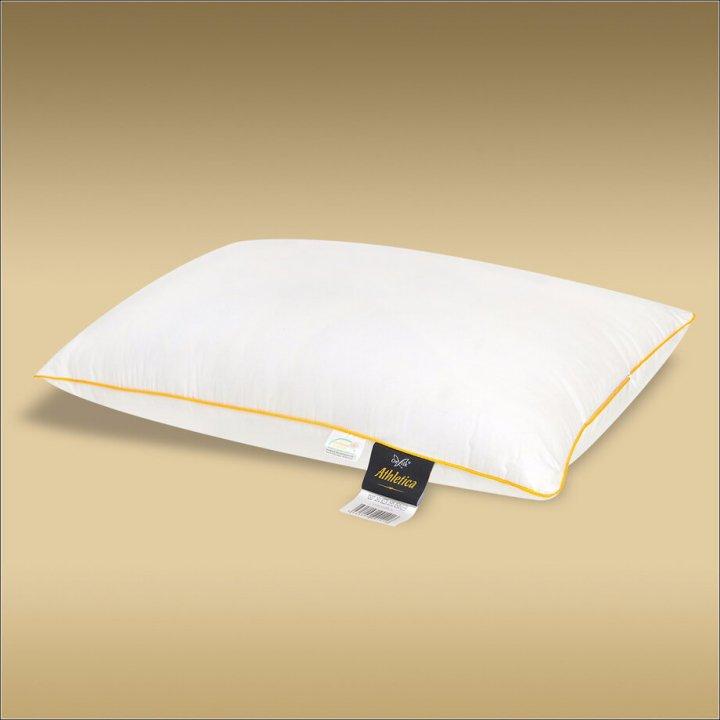 Подушка шелковая упругая «Classic XXL Athletica» (50х70 см; наполнитель: 30% шелк Mulberry, 70% силиконизированное волокно; чехол: сатин, 100% хлопок)
