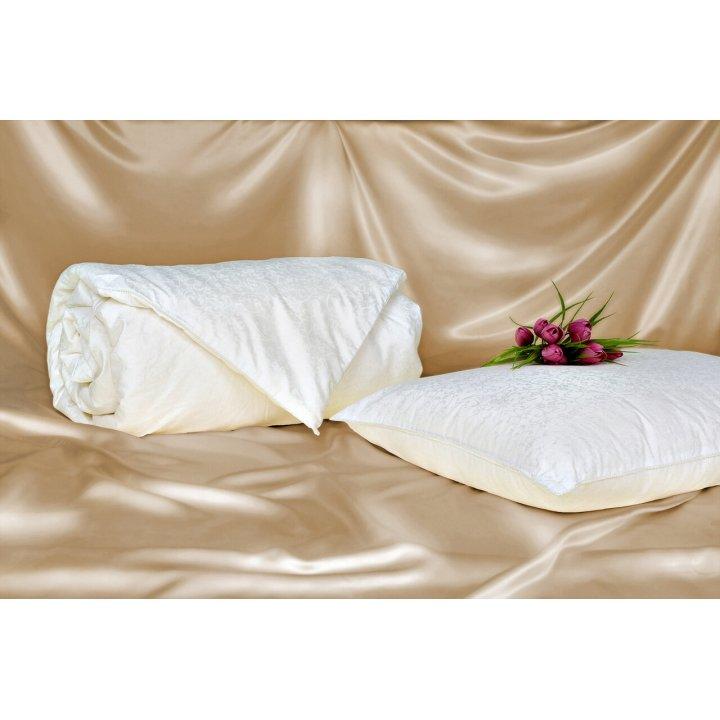 Одеяло шелковое теплое «Comfort Premium» (200х220 см; наполнитель: 100% шелк Mulberry, высшая категория; чехол: жаккард, 100% хлопок; цвет: белый)