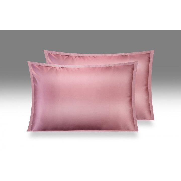 Шелковая наволочка «Shine», цвет: дымчато-розовый (50х70 см; шармез: 100% шелк Mulberry)