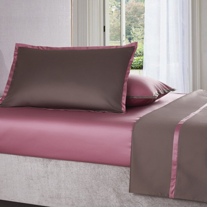 Наволочка «Coctail» (цвет: терракотовый/темно-розовый, 70х70 см, сатин)