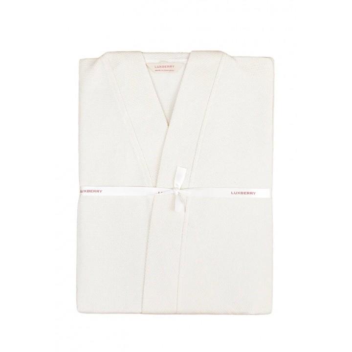 Халат вафельный «Kimono New», цвет: экрю (размер XXL (50-52); 100% хлопок)