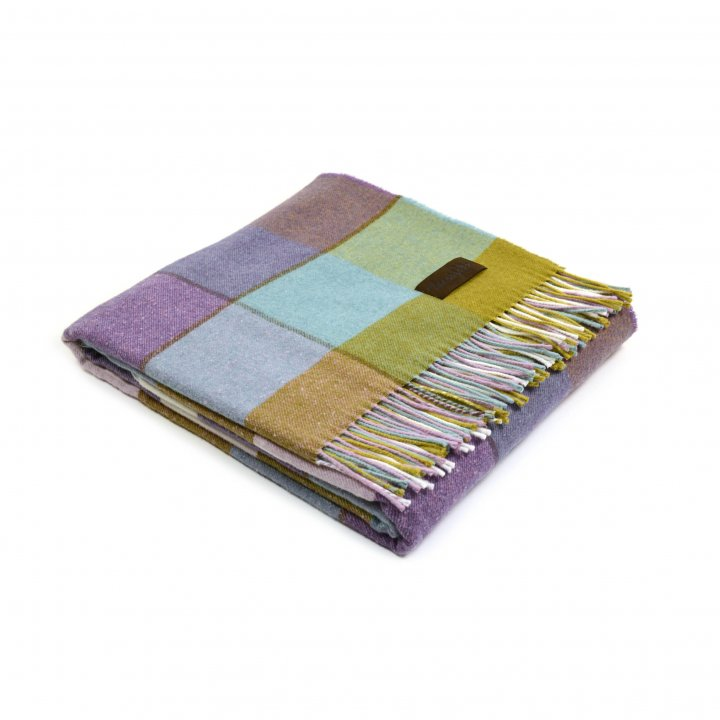 Плед шерстяной «ALBERT 2» (цвет: мультиколор, 130х180 см, шерсть/хлопок)