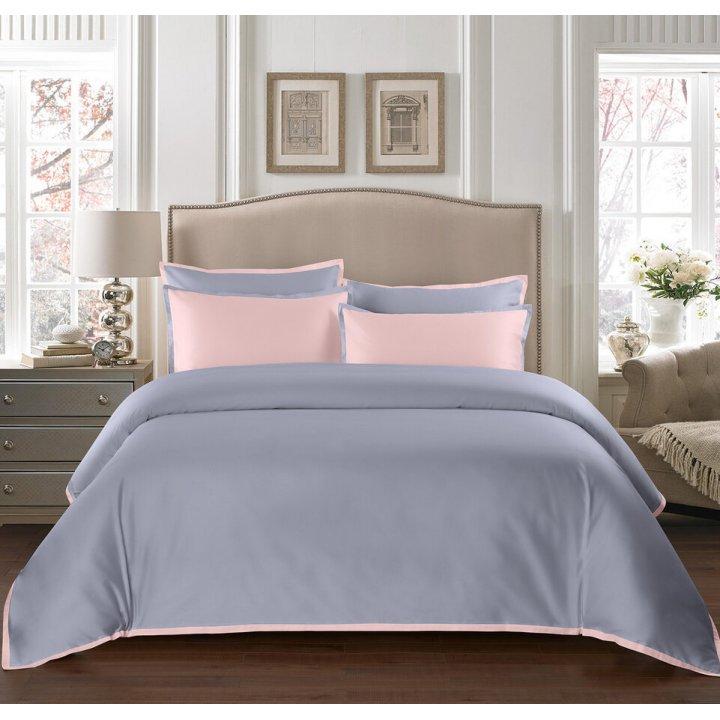 Пододеяльник «Coctail» (цвет: жемчужно-серый/нежно-розовый, 200х220 см, сатин)