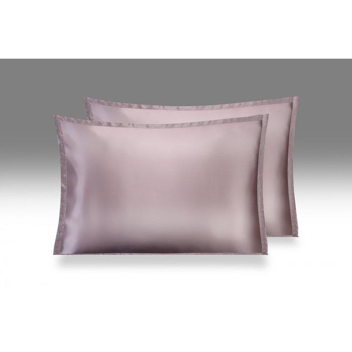 Шелковая наволочка «Shine», цвет: темный чертополох (50х70 см; шармез: 100% шелк Mulberry)