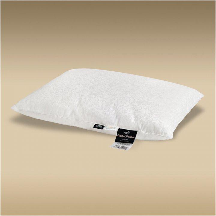 Подушка шелковая мягкая «Comfort Premium L» (50х70 см; наполнитель: 50% шелк Mulberry, 50% силиконизированное волокно; чехол: жаккард, 100% хлопок; цвет: белый)