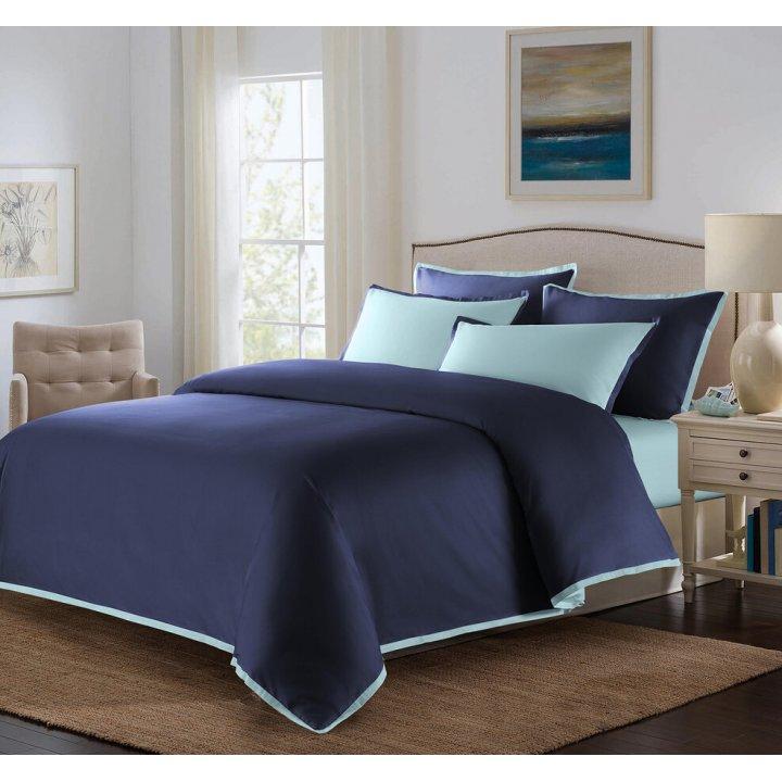 Пододеяльник «Coctail» (цвет: темно-синий/голубая бирюза, 200х220 см, сатин)
