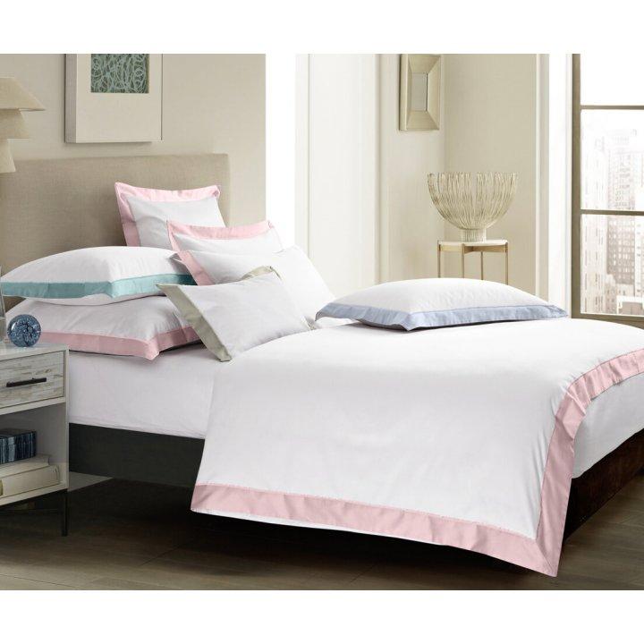 Пододеяльник «Fringe» (цвет: молочный/нежно-розовый, 200х220 см, сатин)