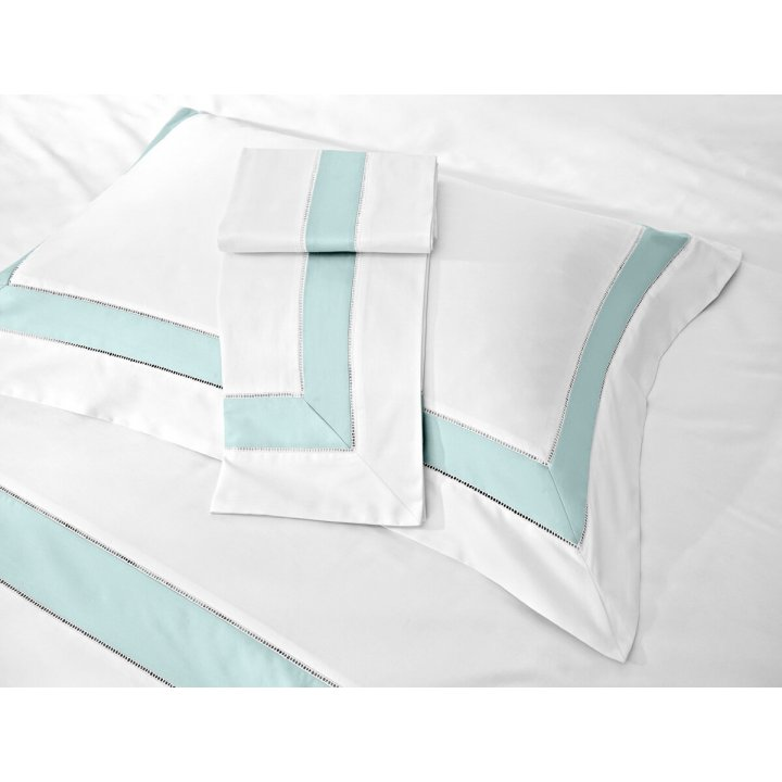 Наволочка «Prime» (цвет: молочный/зеленый шалфей, 50х75 см, сатин)