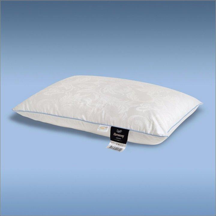 Подушка шелковая мягкая «Harmony XS» (50х70 см; наполнитель: 60% шелк Mulberry, 40% силиконизированное волокно; чехол: жаккард, 100% хлопок; цвет: белый)
