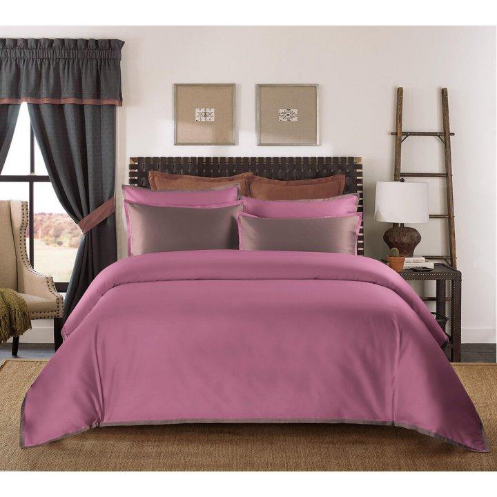 Пододеяльник «Coctail» (цвет: темно-розовый/терракотовый, 200х220 см, сатин)