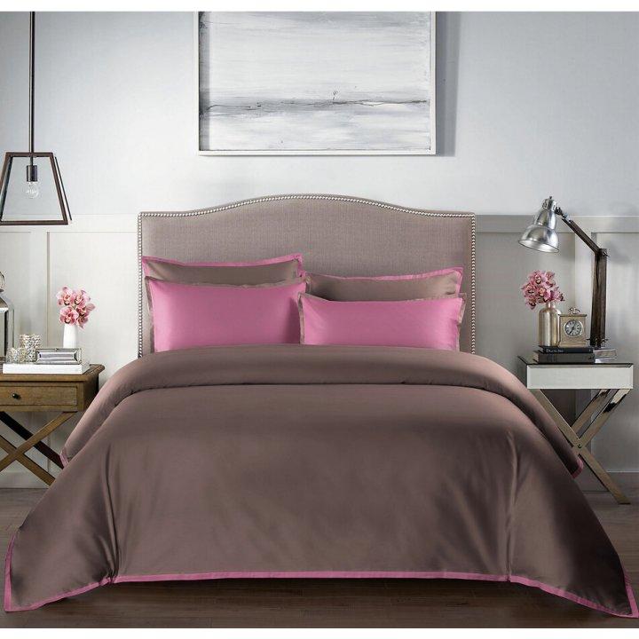 Пододеяльник «Coctail» (цвет: терракотовый/темно-розовый, 200х220 см, сатин)