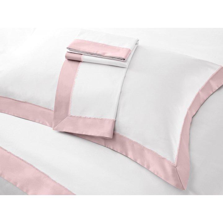 Наволочка «Fringe» (цвет: молочный/нежно-розовый, 50х75 см, сатин)