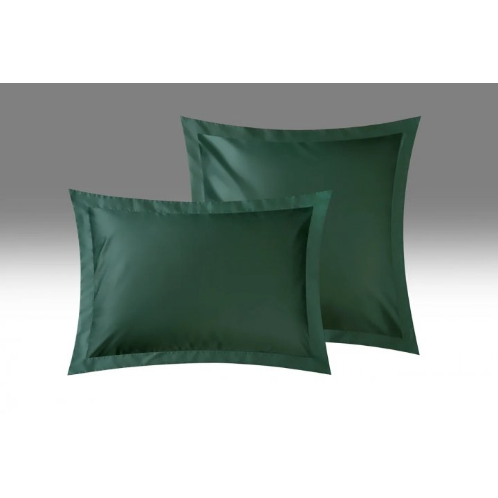 Наволочка «Lotte» (цвет: изумрудный, 70х70 см, сатин)
