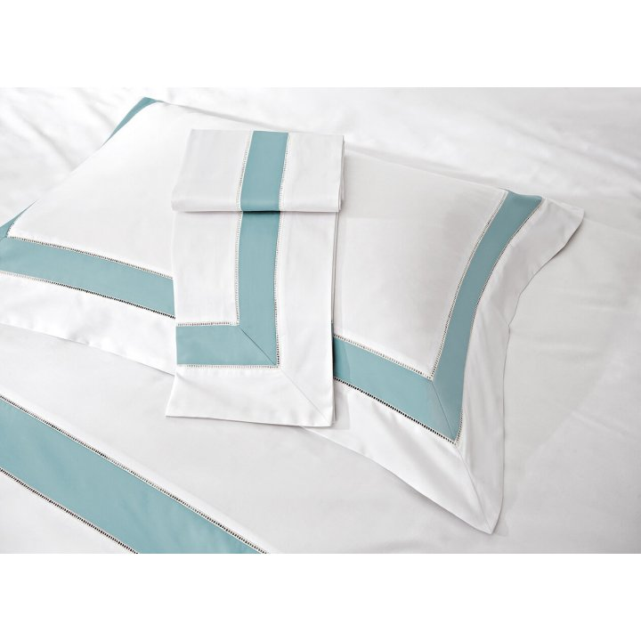 Наволочка «Prime» (цвет: молочный/голубая бирюза, 50х75 см, сатин)