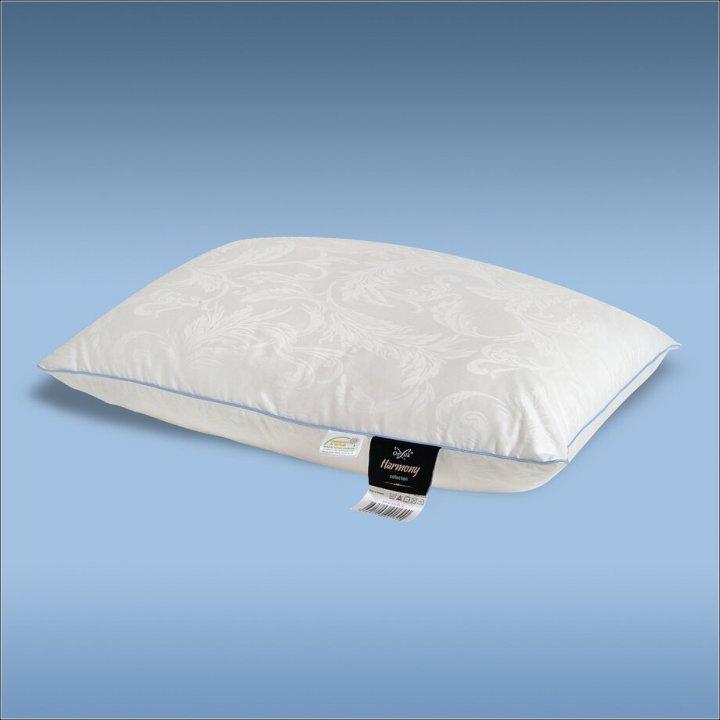 Подушка шелковая упругая «Harmony XL» (50х70 см; наполнитель: 60% шелк Mulberry, 40% силиконизированное волокно; чехол: жаккард, 100% хлопок; цвет: белый)