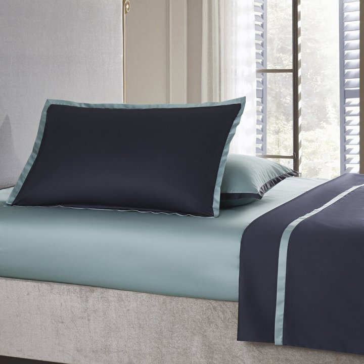 Наволочка «Coctail» (цвет: темно-синий/голубая бирюза, 50х75 см, сатин)