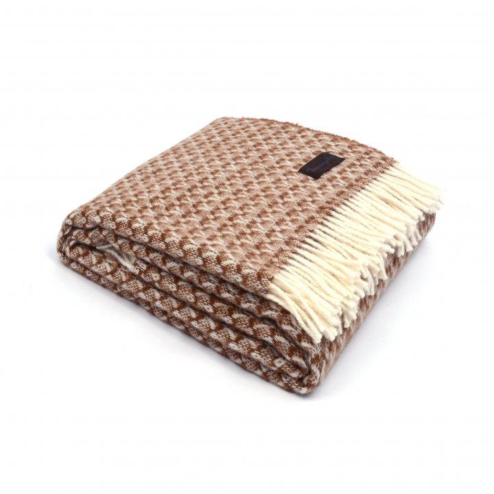 Плед шерстяной «BRIAS TRIANGLE 1200» (цвет: коричневый, 130х170 см, шерсть)