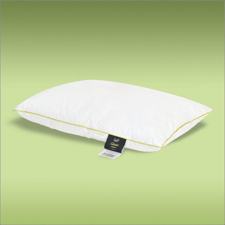 Подушка шелковая мягкая «Classic XS» (50х70 см; наполнитель: 30% шелк Mulberry, 70% силиконизированное волокно; чехол: сатин, 100% хлопок; цвет: белый)