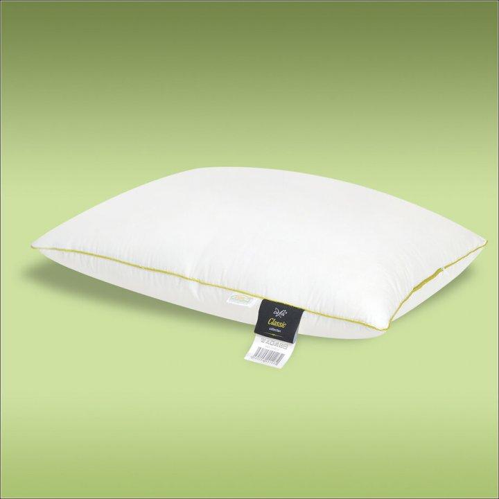 Подушка шелковая мягкая «Classic L» (70х70 см; наполнитель: 30% шелк Mulberry, 70% силиконизированное волокно; чехол: сатин, 100% хлопок; цвет: белый)