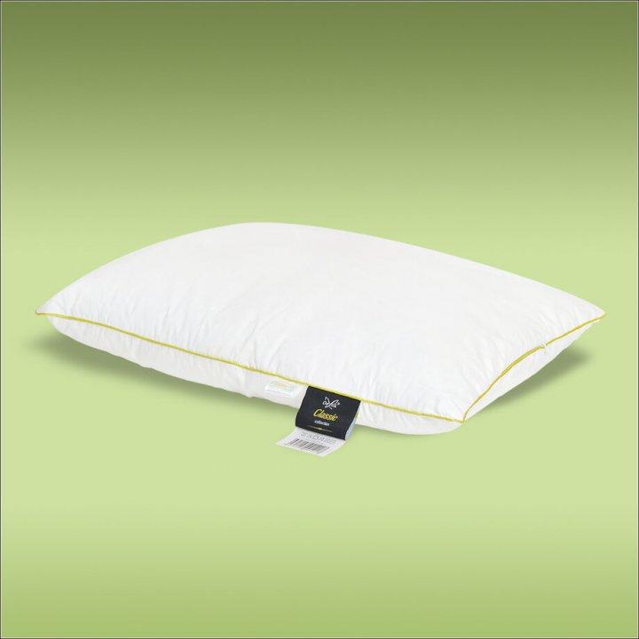 Подушка шелковая мягкая «Classic S» (50х70 см; наполнитель: 30% шелк Mulberry, 70% силиконизированное волокно; чехол: сатин, 100% хлопок; цвет: белый)