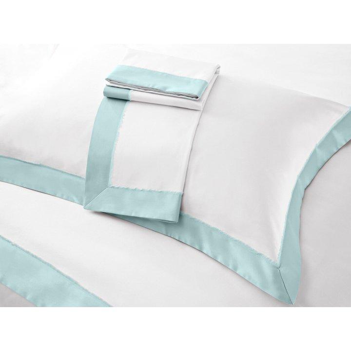 Наволочка «Fringe» (цвет: молочный/зеленый шалфей, 50х75 см, сатин)