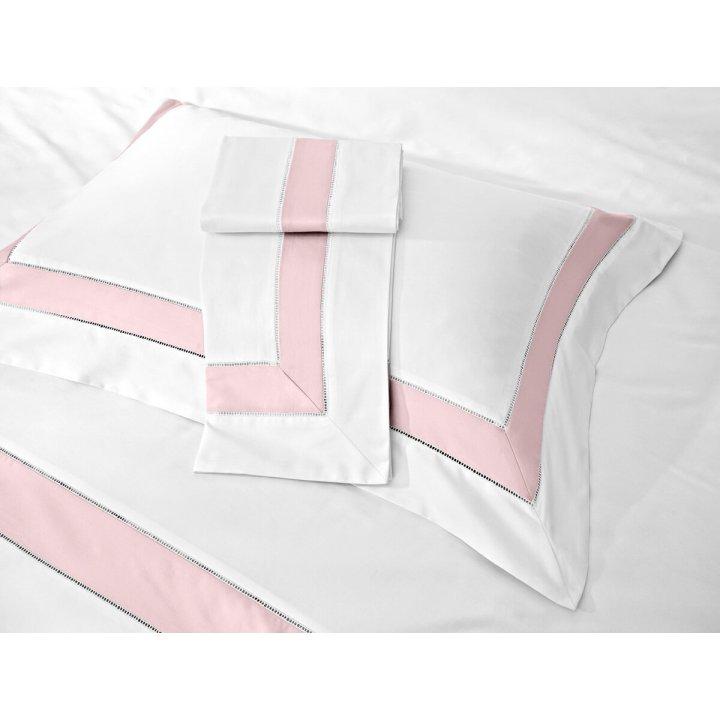 Наволочка «Prime» (цвет: молочный/нежно-розовый, 70х70 см, сатин)