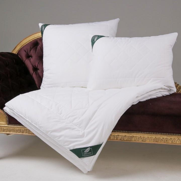 Одеяло хлопковое облегченное стеганое «Flaum Baumwolle Kollektion» (200х220 см; наполнитель: 80% хлопковое волокно, 20% полилактид; чехол: мако-сатин, 100% хлопок)