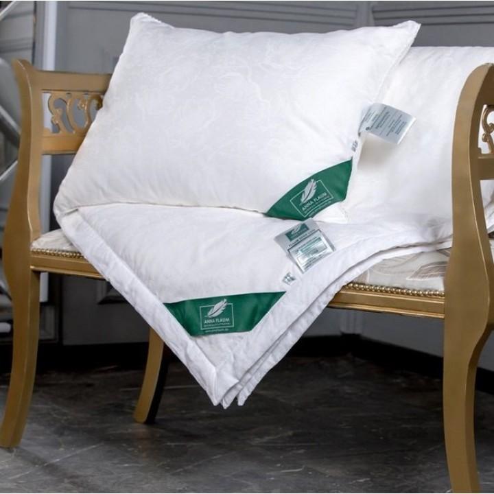 Подушка шелковая мягкая «Flaum Eleganz Kollektion» (40х60 см; наполнитель: 100% шелк / ядро - 100% полиэфирное волокно; чехол: жаккард, 55% тенсель, 45% хлопок)
