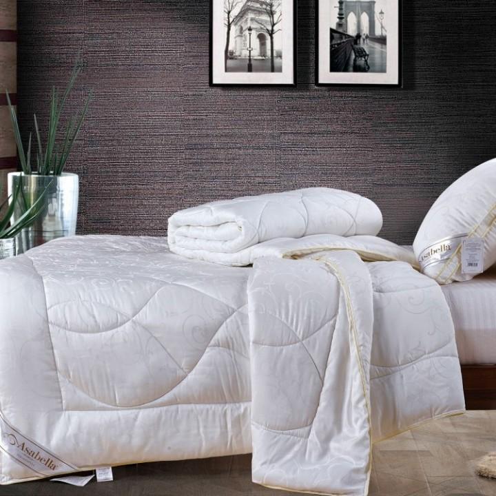 Одеяло всесезонное стеганое из тенселя «Asabella T-1» (145х205 см; наполнитель: 50% тенсель, 50% искусственный шелк; чехол: жаккард, 100% тенсель)