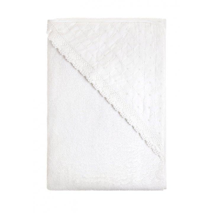 Полотенце с капюшоном «Carol» (цвет: белый, 100х100 см, махра)
