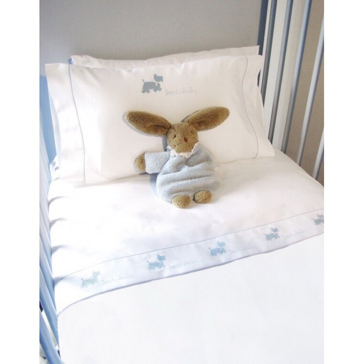 Чехол для бампера «Собачки» (цвет: белый/голубой, 45х390 см, перкаль)
