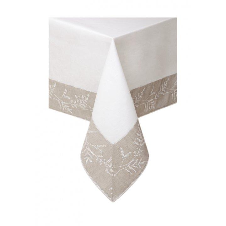 Скатерть «Сантолина» (цвет: белый/льняной, 160х180 см)