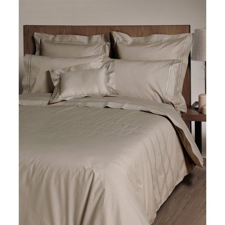 Комплект постельного белья «Акцент» (цвет: бронзовый, евро, перкаль)