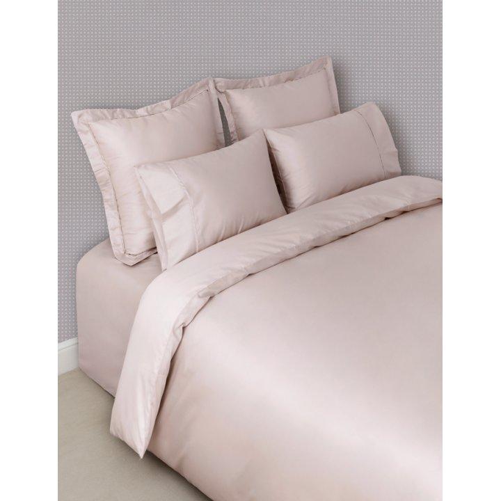 Пододеяльник «Basic» (цвет: розово-жемчужный, 200х220 см, сатин)
