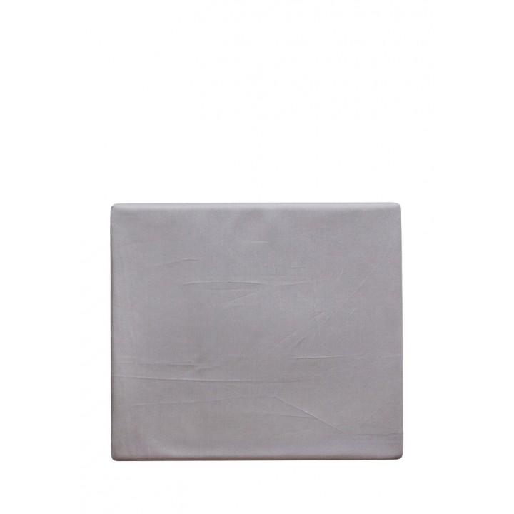 Простыня свободная «Castello» (цвет: серый; 220х240 см; сатин: 100% хлопок)