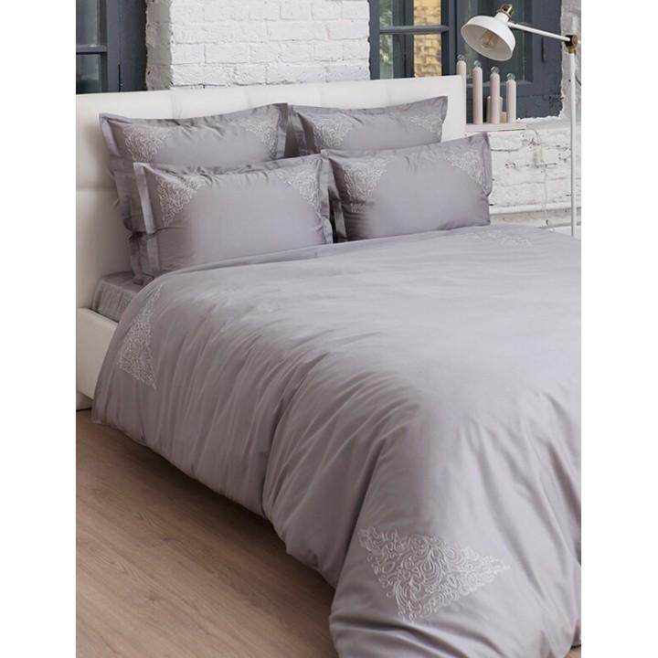 Пододеяльник «Castello» (цвет: серый; 150х210 см; сатин: 100% хлопок)