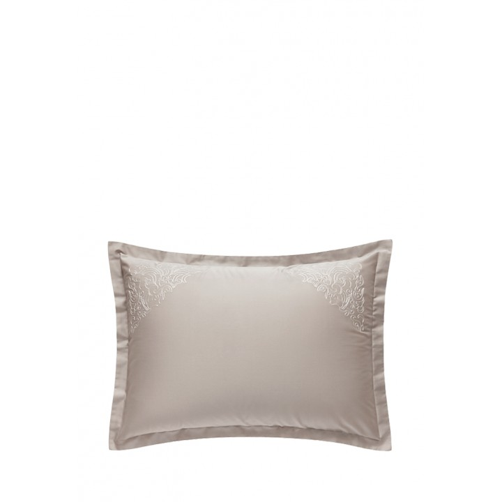 Наволочка «Castello» (цвет: серо-бежевый; 50х70 см; сатин: 100% хлопок)