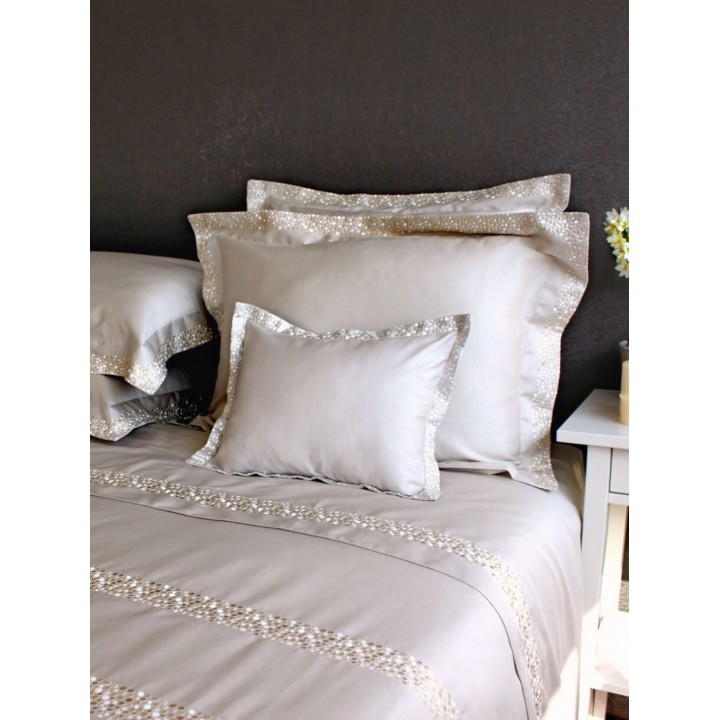 Комплект постельного белья «Chic» (цвет: песочный, евро, сатин)