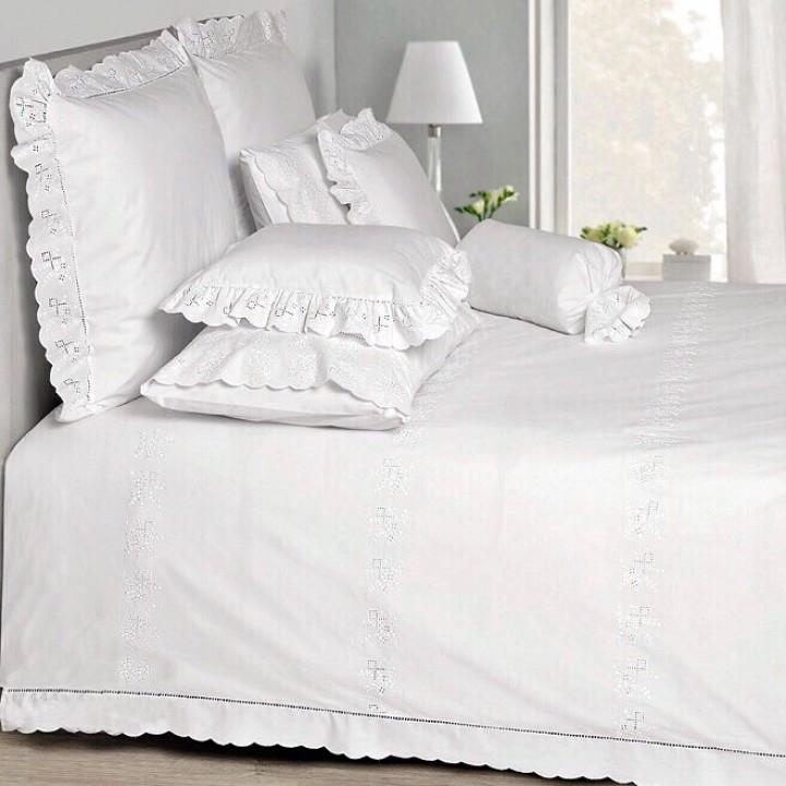 Комплект постельного белья «Classic» (цвет: белый, 1,5 - спальный, перкаль: 100% хлопок)