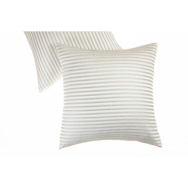 Декоративная наволочка «Field», цвет: белый/бежевый (42х42 см, сатин: 100% хлопок)