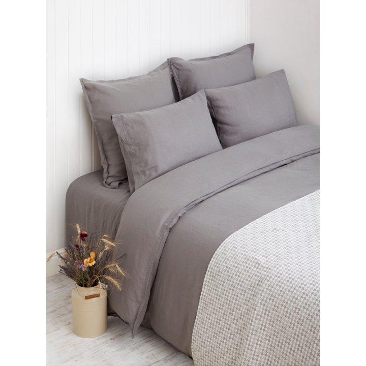 Наволочка «Linen» (цвет: серый, 70х70 см, лен-хлопок Stonewashed)