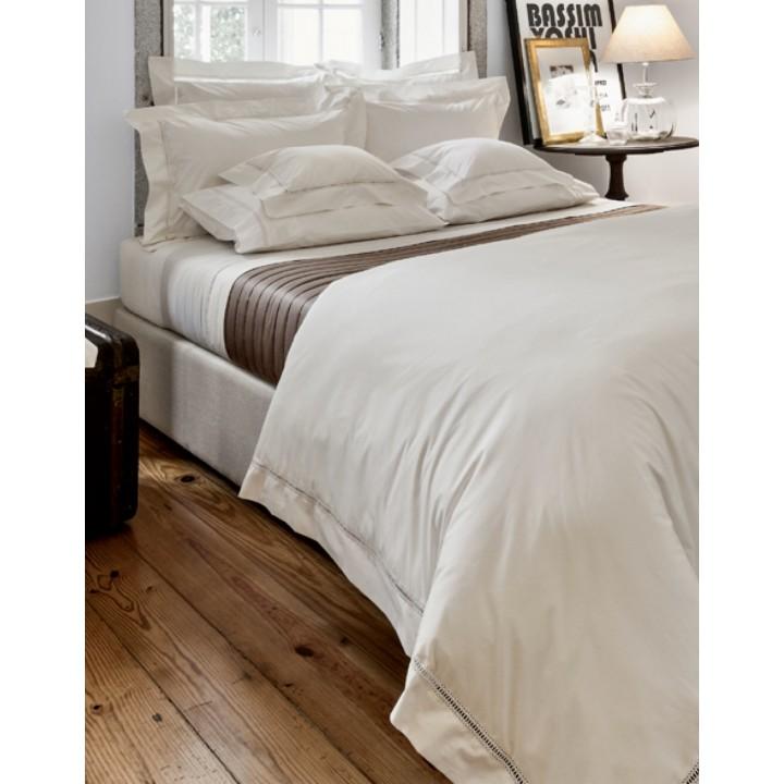 Комплект постельного белья «Medici» из перкали, цвет: экрю (размер: евро; перкаль: 100% хлопок)