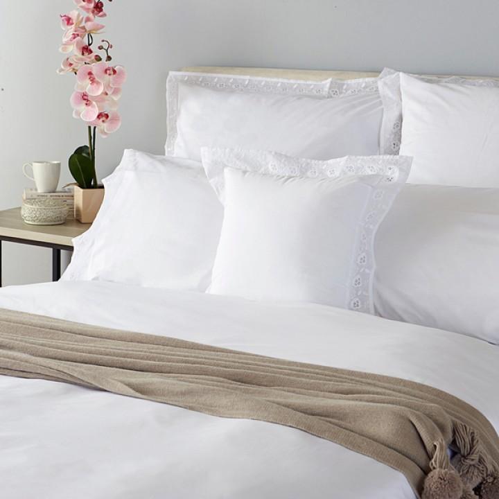 Комплект постельного белья «Primavera» (цвет: белый; 1,5 - спальный; перкаль: 100% хлопок)