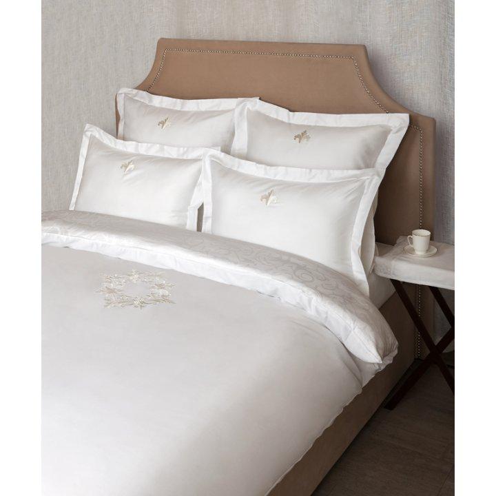 Пододеяльник «Rococo» (цвет: белый, 200х220 см, сатин-жаккард)