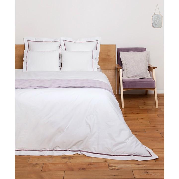 Пододеяльник «San Marco» (цвет: белый/розовый; 150х210 см; перкаль: 100% хлопок)